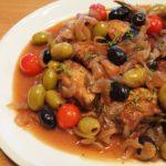 鶏肉のオリーブ煮